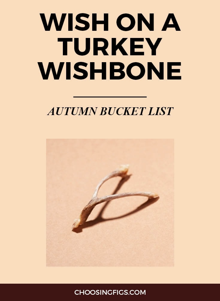 MAKE A WISH ON A TURKEY WISHBONE | Autumn Bucket List: 50 Things to do in Fall
