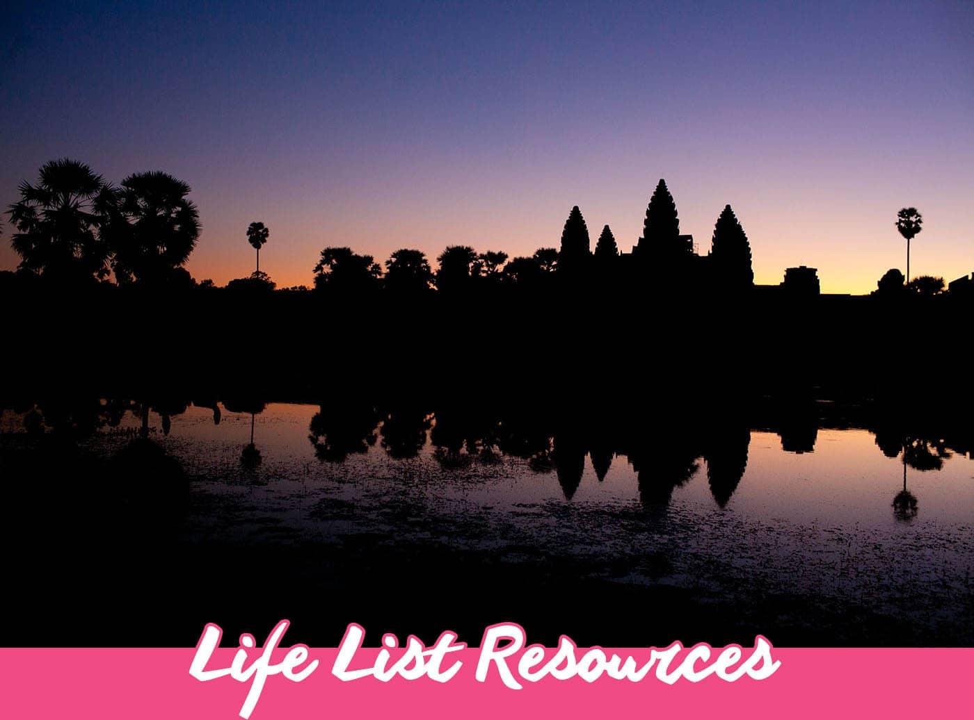 Life List Resources - Plan Your Life List/Bucket List | Bucket List Inspiration & Ideas
