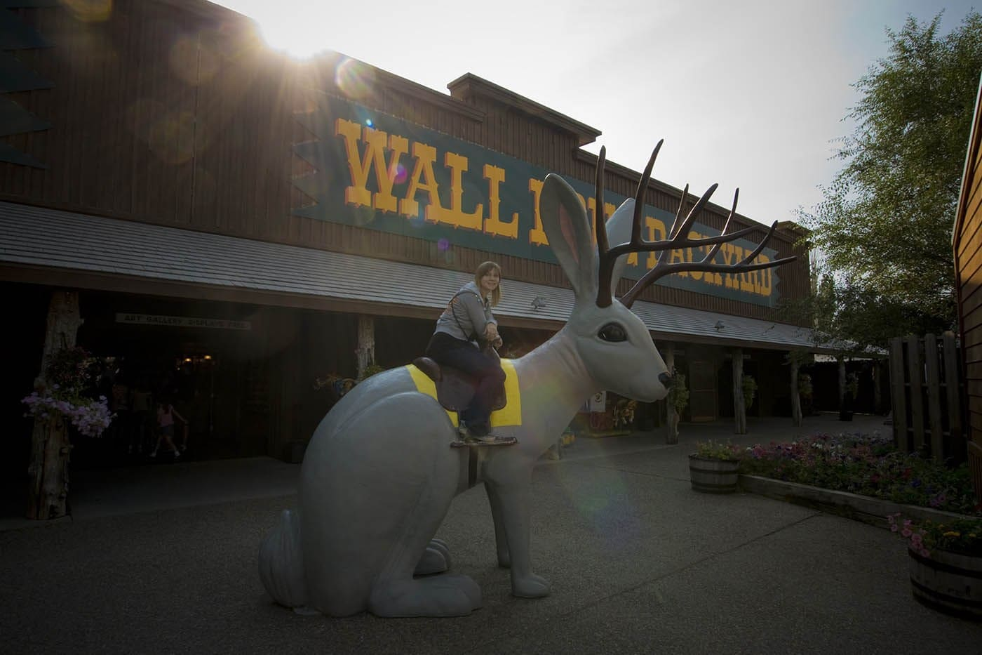Riding the jackalope at Wall Drug Store in South Dakota. | 38 things I've done in my life.