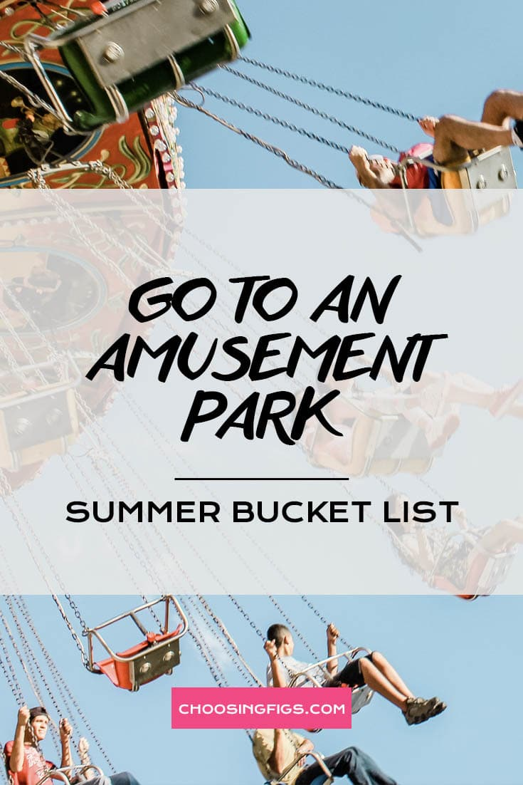 GO TO AN AMUSEMENT PARK | Summer Bucket List Ideas: 50 Things to do in Summer