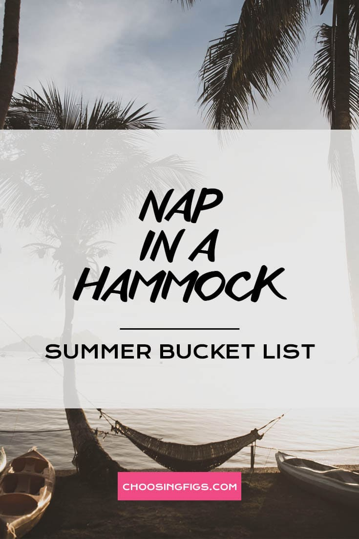 NAP IN A HAMMOCK | Summer Bucket List Ideas: 50 Things to do in Summer