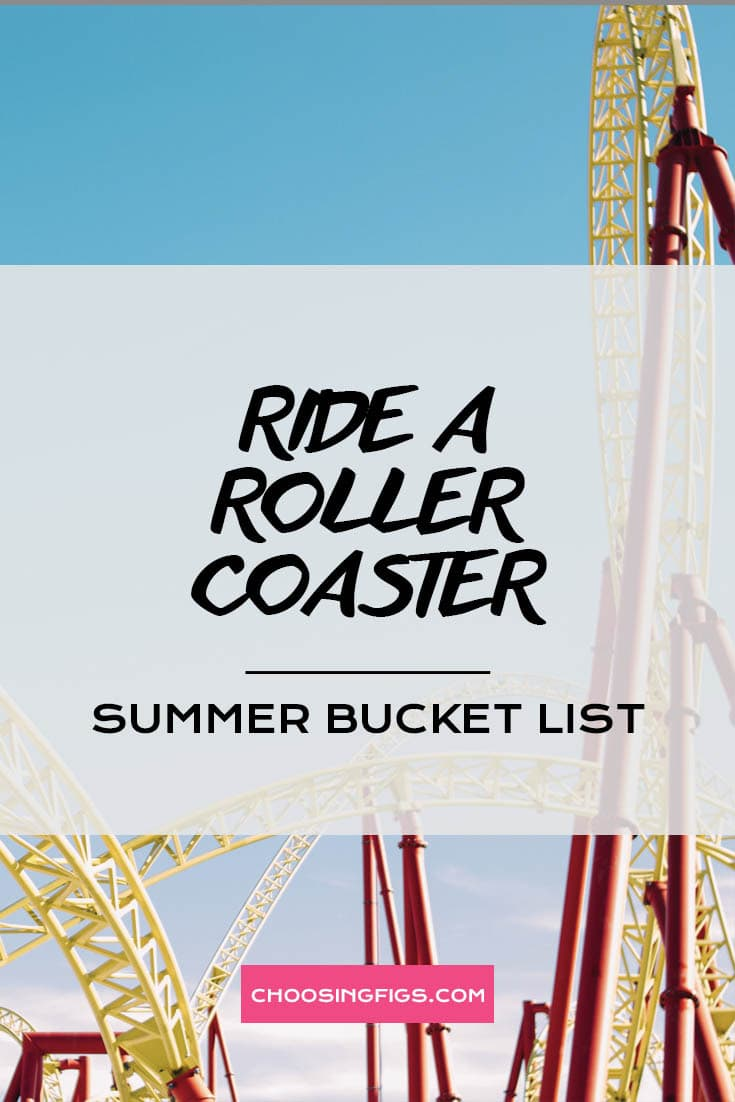 RIDE A ROLLER COASTER | Summer Bucket List Ideas: 50 Things to do in Summer