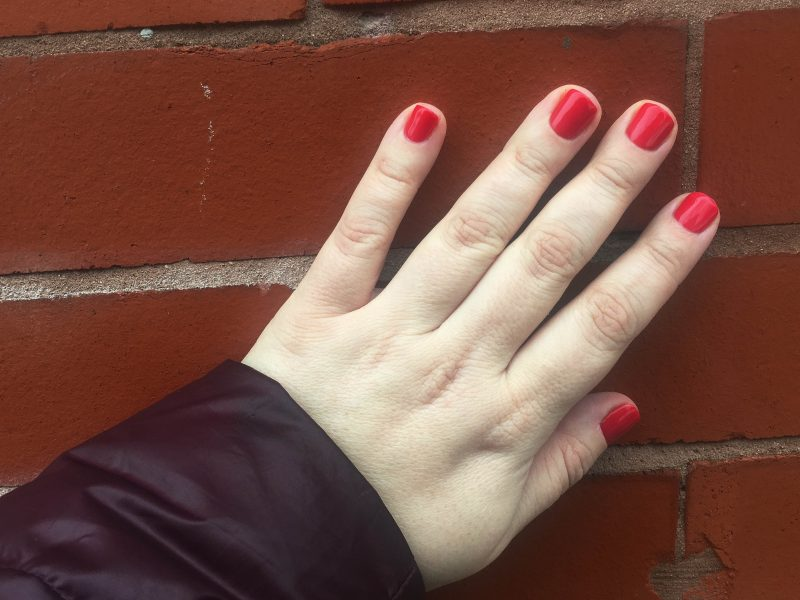 Coca-Cola Nails - Nails painted with Opi Coca-Cola red nail polish.