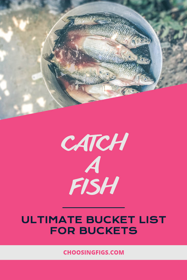 Catch a fish. Ultimate Bucket List Ideas for Buckets.