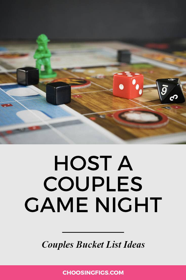 Host a couples game night. | 100 Couples Bucket List Ideas | Bucket List Ideas for Couples | Relationship Goals