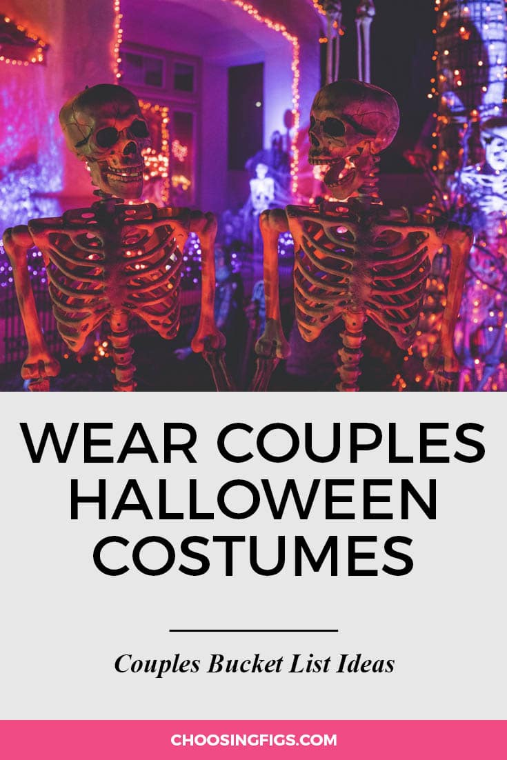 Dress up in a couples costume for Halloween. | 100 Couples Bucket List Ideas | Bucket List Ideas for Couples | Relationship Goals