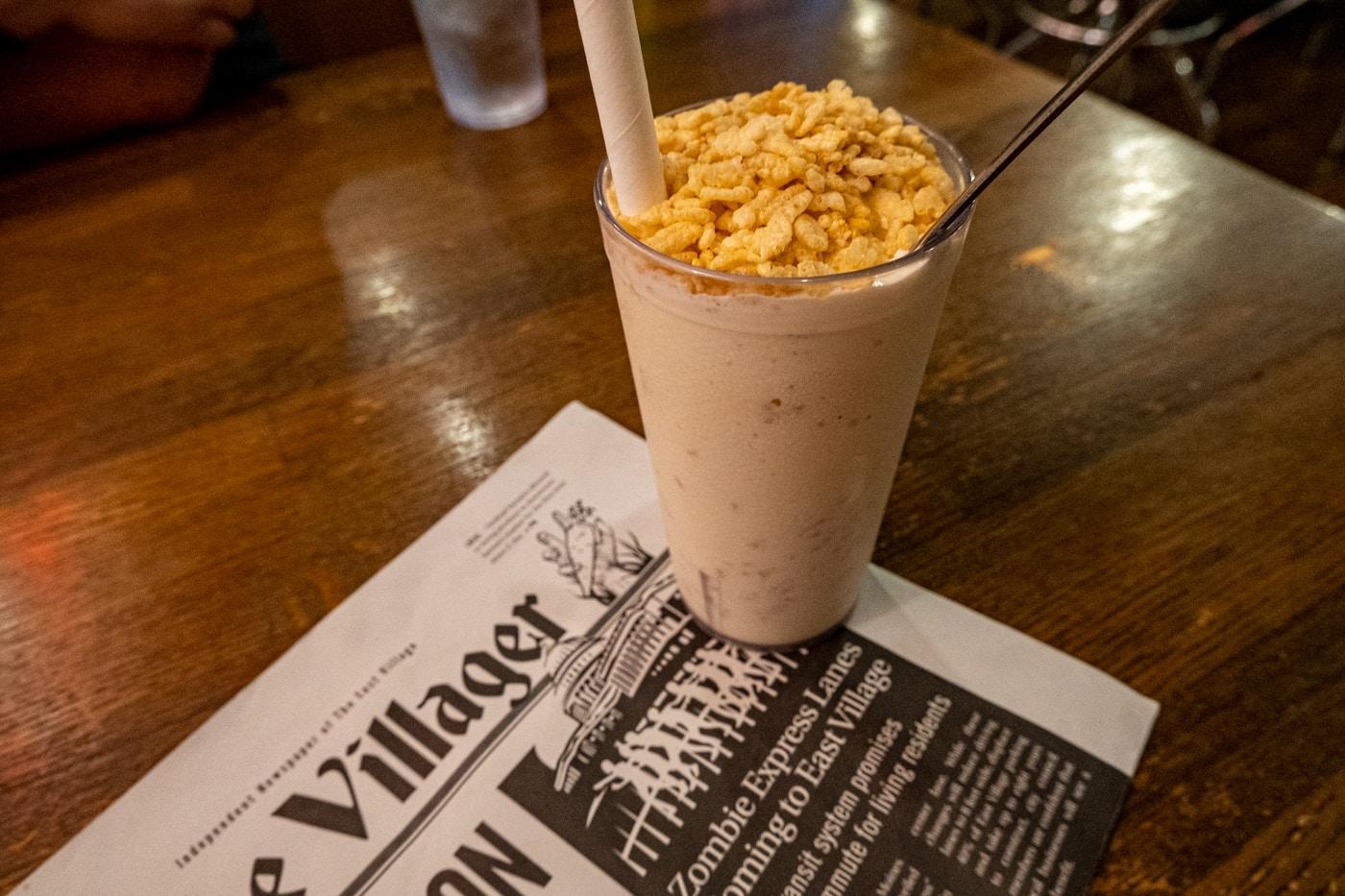 Rice Krispie Treat Milkshake at Zombie Burger in Des Moines, Iowa.