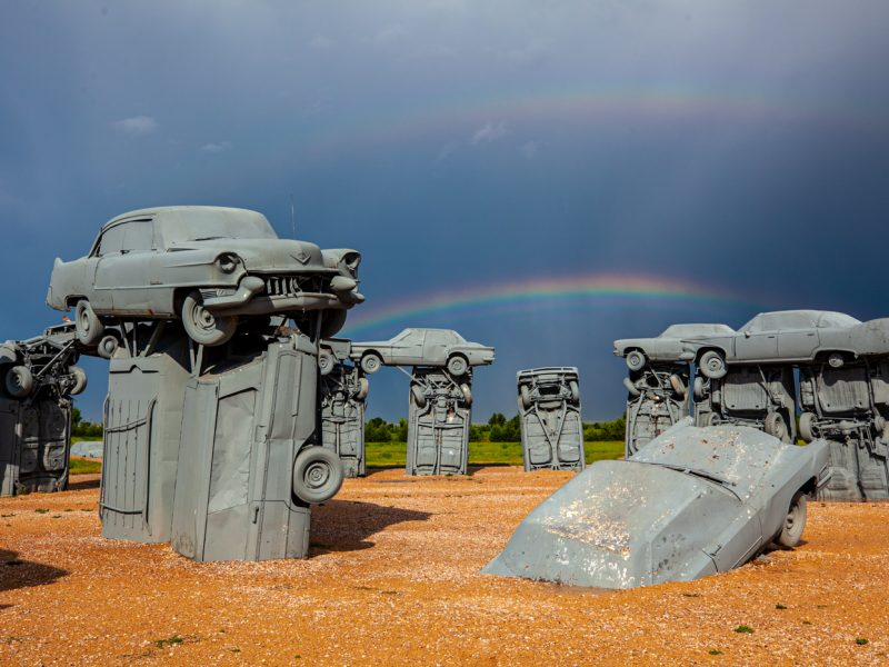 Carhenge in Alliance Nebraska - Roadside Attraction Stonehenge Made From Cars