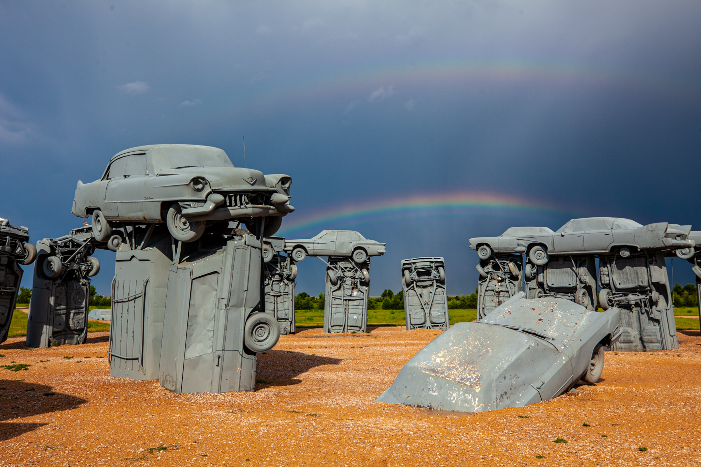Carhenge in Alliance Nebraska - Roadside Attraction Stonehenge Made From Cars