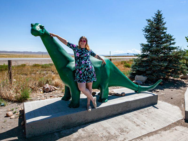 Sinclair Dinosaur in Sinclair, Wyoming