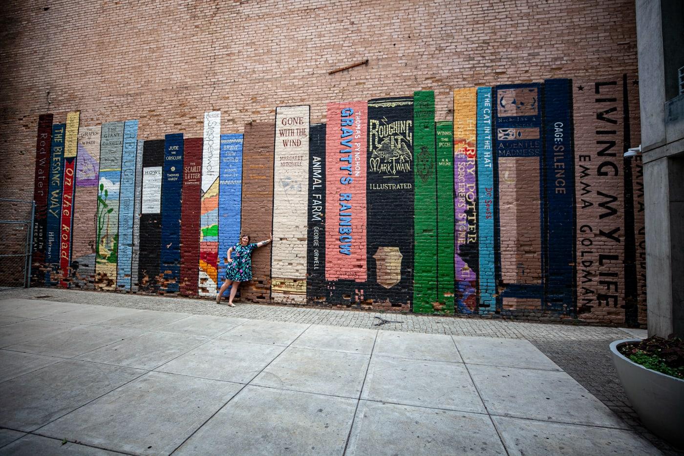 Book Wall Mural in Salt Lake City, Utah.