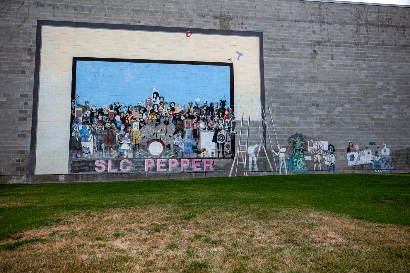 SLC Pepper Mural in Salt Lake City, Utah.