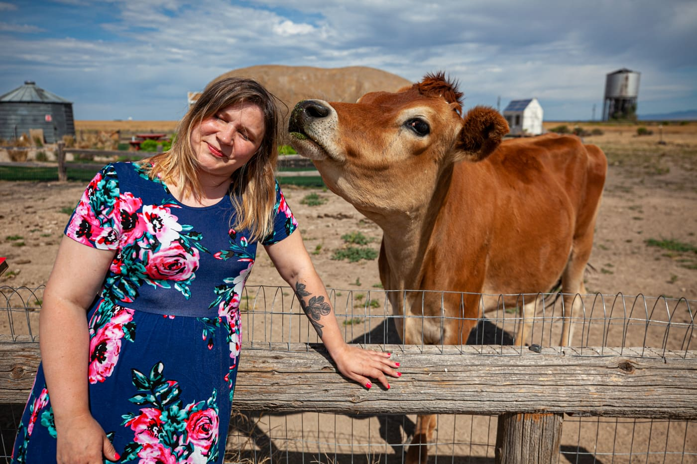 Feeding Dolly the Cow at the Big Idaho Potato Hotel - Potato AirBNB in Boise, Idaho