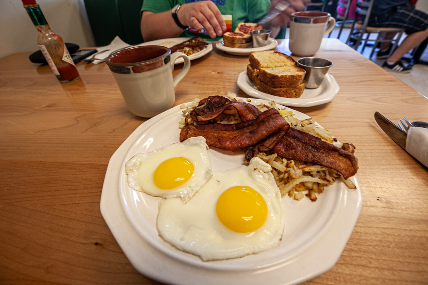 Breakfast at Karina's in Whitehall, Montana.