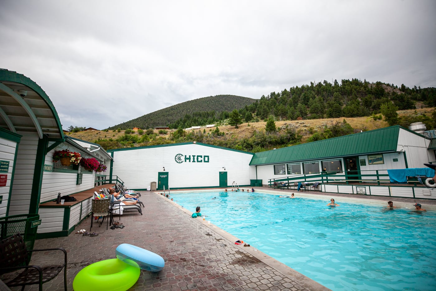 Chico Hot Springs in Montana.