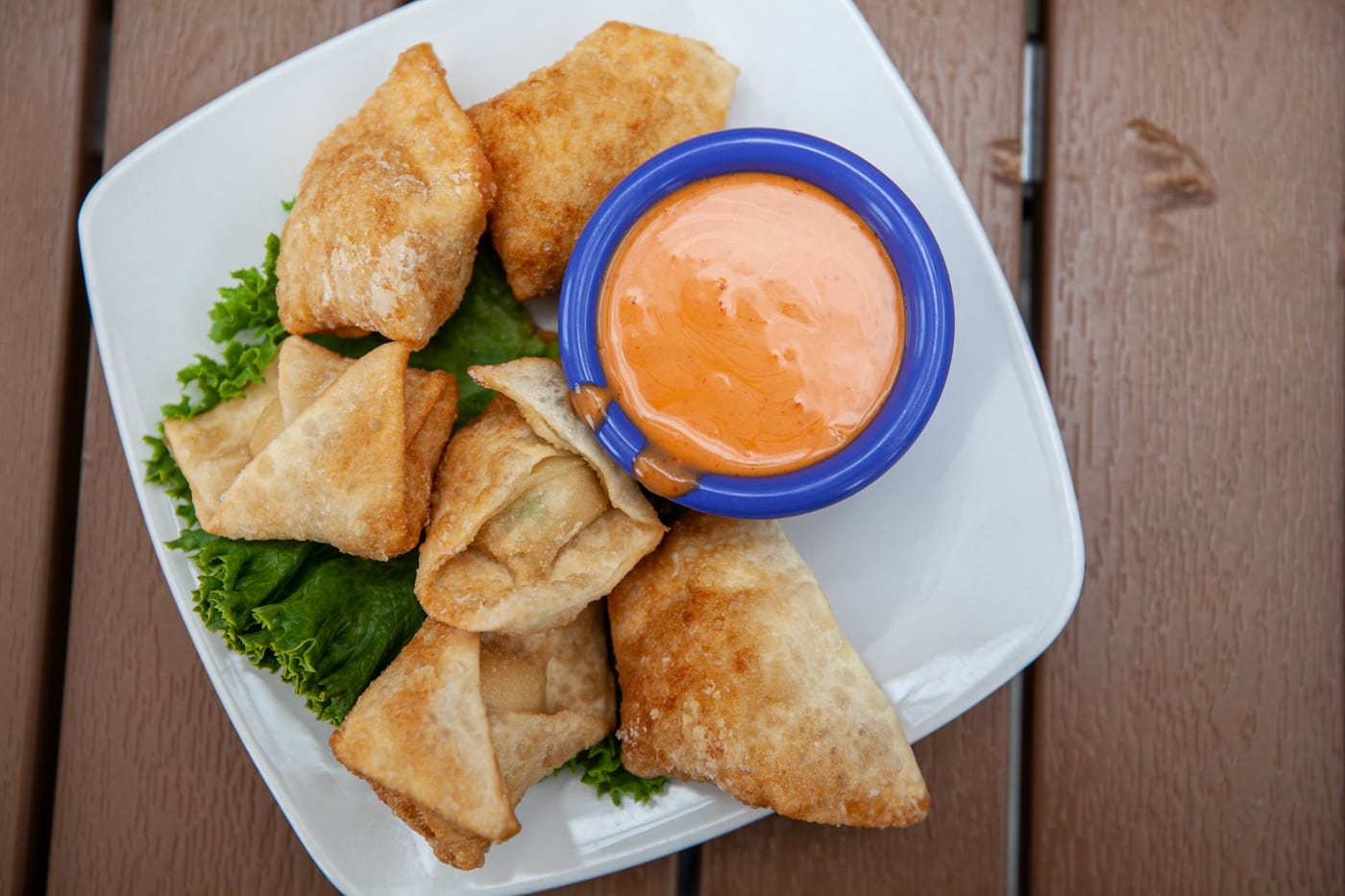 Crab rangoon at Neptune's Brewery in Livingston, Montana.