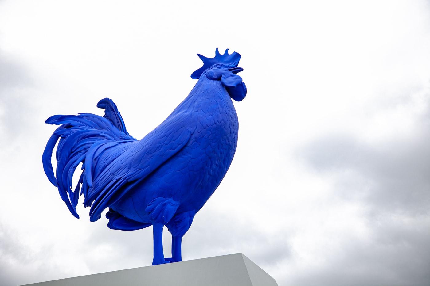 Hahn/Cock - big blue rooster at Minneapolis Sculpture Garden in Minnesota