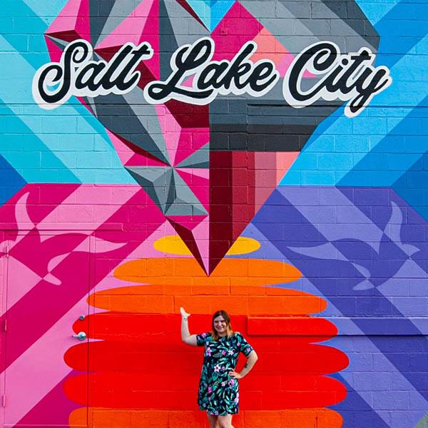Salt Lake City Mural in Utah.